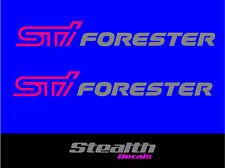 2x Subaru Forester STI Premium quality decals, wrx stickers