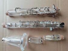 Beautifully Clarinet G Tone 18 Keys Plexiglass Nickel Plating Good Sound