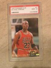 Michael Jordan 1992-93 Topps Stadium Club #210 Members Choice Bulls PSA 9 MINT