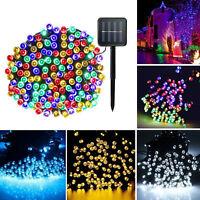 12M 100 LED Solar Power Fairy Light String Party Xmas Decor Outdoor Waterproof
