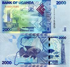 Uganda 2000 Shillings Banknote World Paper Money Currency Pick p50a 20