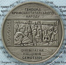 Ukraine 10 UAH 2016 NEW sUNC RARE 1 OZ Silver Crimean Tatar Genocide Remembrance