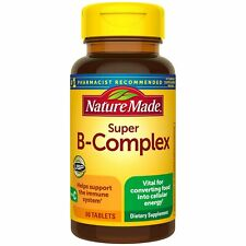 Nature Made Super B-Complex Tablets, 60 Count for Metabolic Health† (Packagin...