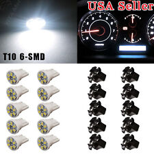 10xT10 White LED 8SMD Bulb Instrument Panel Cluster Dash Light Twist Lock Socket