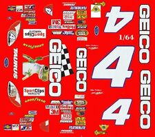 #4 Mike Wallace Geico 2004 Ford 1/64 - Ho Scale Slot Car Decals