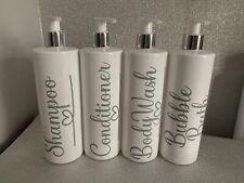 Refillable Bottle Pump 500ml Bathroom Shampoo Conditioner Mrs Hinch 1 BOTTLE