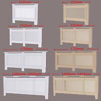 Painted Radiator Cover Cabinet Vertical Modern Style Slats White MDF Range Sizes