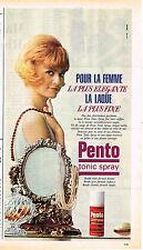 PUBLICITE ADVERTISING 094  1965  PENTO  tonic spray laque