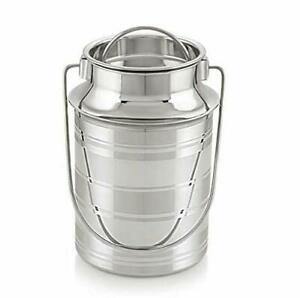 Stainless Steel Milk Can 3 Ltrs Milk Container /Milk Can Heavy Quality Free Ship