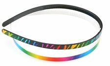 Zest 2 Bright Coloured Zebra Print Alice Bands Hair Accessories