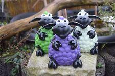 Deko Figur Schaf Molly sitzend oder stehend, Gartenfigur, lustige Bunte Schafe
