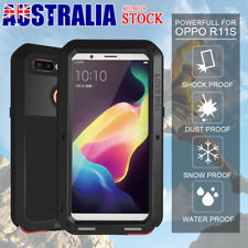 AU Love Mei Shockproof 360° Full Protection WaterProof Metal Case For OPPO R11S