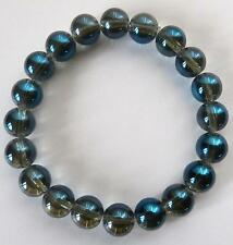 Blue Aura 10mm Bead Bracelet