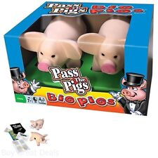 Action Game Pass The Big Pigs With 2 Oversized Foam Pig Dice Score Pad and Pouch