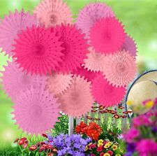 18 Tissue Paper fan fall Wedding Birthday home Party event festival Decoration