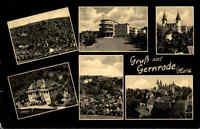 Gernrode Harz DDR frankierte AK 1963 Ferienheim Fritz Heckert Stiftskirche u.a
