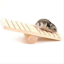Wooden Rabbit Hamster Seesaw Gerbil Rat Mouse Exercise Playing Climbing Toy B