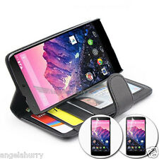 Wallet Leather Case Pouch Cover For Motorola Google Nexus 6+2 x Screen Protector