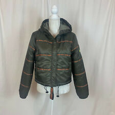 Kendall + Kylie for OVS Ladies Green Hooded Puffer Jacket Size Large