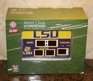 one Size Black Timeless Etchings NCAA LSU Tigers Slate Clock-LSU