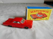 Matchbox Lesney No 22 Pontiac GP sports coupe boxed