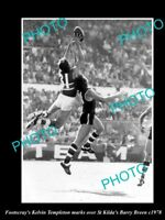 OLD LARGE HISTORICAL PHOTO OF FOOTSCRAY FC GREAT KELVIN TEMPLETON c1974