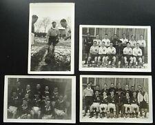 More details for 4x rare uk military football match england? v scotland? on field play c1940 rppc
