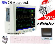 CONTEC CMS 7000 Vital ICU Patientenmonitor +Drucker +EKG NIBP SPO2 PR RESP TEMP
