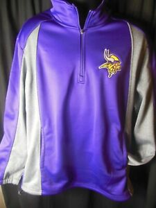 Minnesota Vikings NFL Men's G-III 1/4 Zip Pullover Sweater Large or XL