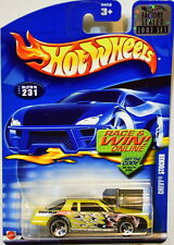 HOT WHEELS 2002 CHEVY STOCKER #231 YELLOW FACTORY SEALED