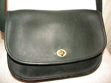 Vintage Dark Green Coach Leather Handbag Shoulder Bag