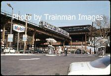 New ListingSubway Slide (Orig.): Nycta R-12's with Graffiti, 3rd Ave. El, Bronx, Ny - 1973