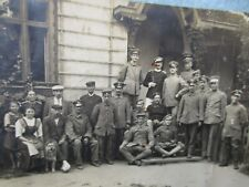 Wwi German Army Phot 00004000 o Post Card Rear Area Soldiers and Civilians 1917 Ww1