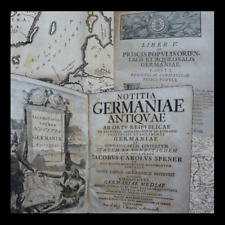 SPENER : NOTITIA GERMANIAE ANTIQUAE - HALLE 1717  4 carte geografiche mappe