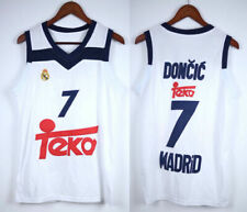 Luka Doncic #7 Real Madrid Euroleague Basketball Jersey Men's Stitched White