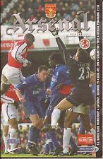 Football Programme - Arsenal v Middlesbrough - Premiership - 29/12/2001