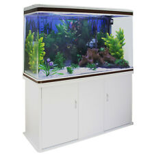 300L  Heimaquarium Aquarium mit Unterschrank  ✔Pflanzen ✔Kies ✔LED Licht