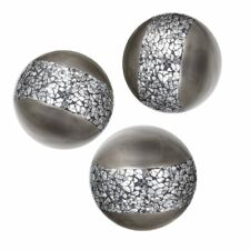 Creative Scents Schonwerk Silver Decorative Orbs for Bowls and Vases (Set of 3)