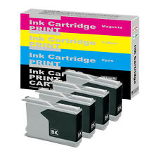 4 Black INK Cartridges for Brother LC970 BK LC1000 BK