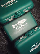 4 Irideus Feather River Fly Fishing Fly Boxes Tackle Box Case Fish Compartment