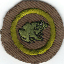 BOY SCOUT ZOOLOGY WIDE CRIMPED MERIT BADGE (TYPE B) LIGHT WEIGHT CLOTH
