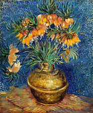 Imperial Fritillaries in a Copper Vase A1+ by Vincent van Gogh Canvas Print