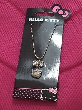 Sanrio Hello Kitty Girls Lady's Necklace Bow Pendant BNWT Cute