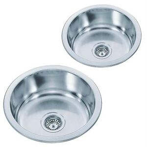 Choice Medium Or Small Round Bowl Inset Stainless Steel Kitchen Sinks M07/M08 mr