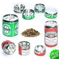 Grinder Triturador de Tabaco Polinizador Metálico Plástico Molinillo Heineken