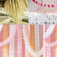 3.6m Paper Garland Bunting Banner Home Birthday Wedding Party for Hanging Decor.