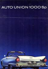 Auto Union DKW 1000 SP Roadster 1963-65 UK Market Foldout Sales Brochure
