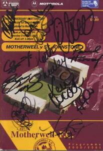 Motherwell FC - Signed Program - COA (14737)
