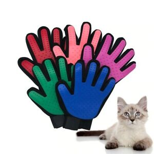 True Touch deShedding Glove for Gentle and Efficient Pet Grooming cat