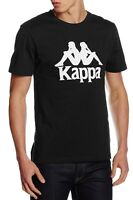 Kappa Estessi Print Logo T-Shirt Retro Sports Print Top Casual Tee Black